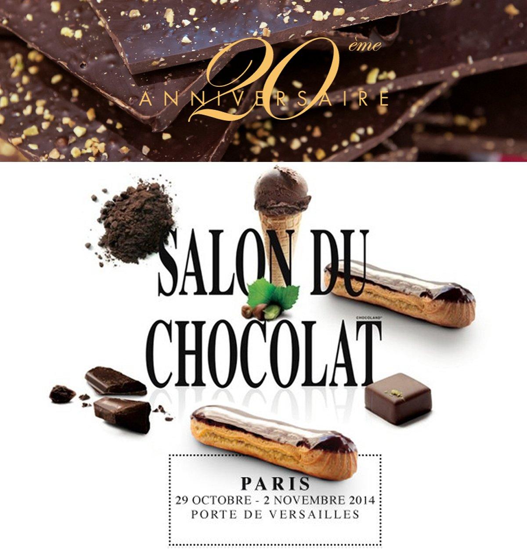 Salon du chocolat 2014 à Paris Portes de Versailles. 20e anniversaire
