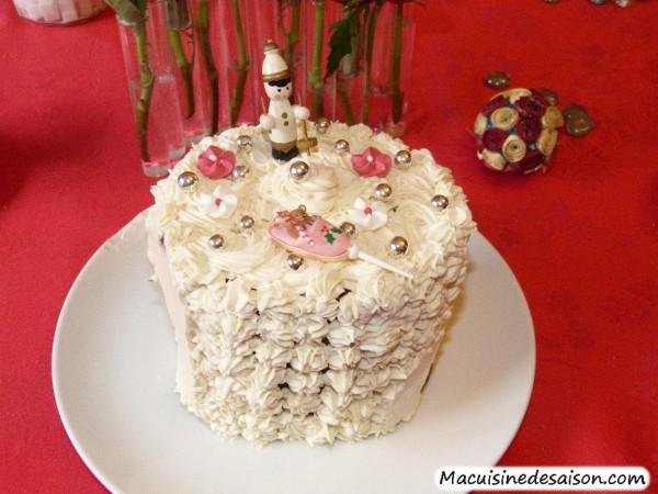 Gâteau roulé vertical chocolat et mascarpone