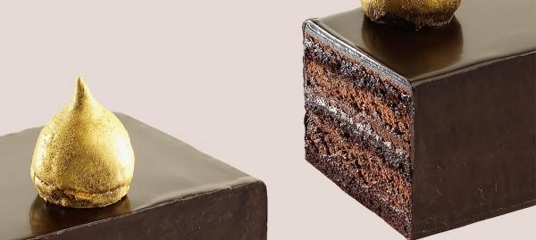 Nouvelle création du pâtissier chocolatier Jean-Paul Hévin : le gâteau Goutte d'Or