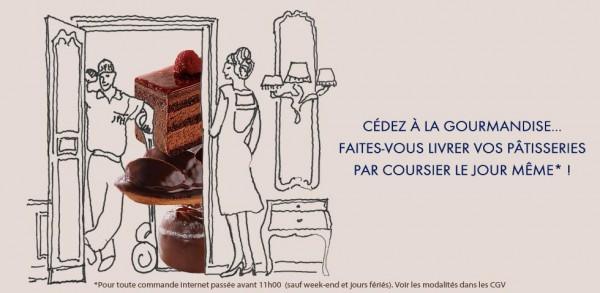 livraisons par coursier dans Paris des pâtisseries Jean-Paul Hévin