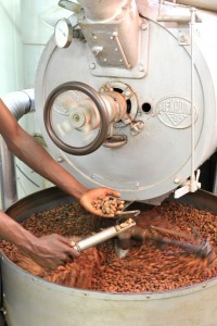 Torrefaction des fèves de cacao