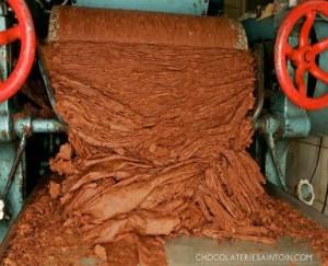 Broyage du cacao