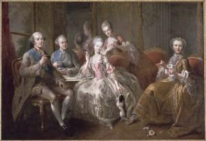 La tasse de chocolat ou La famille du duc de Penthièvre (Jean-Baptiste Charpentier, 1768, musée de Versailles)