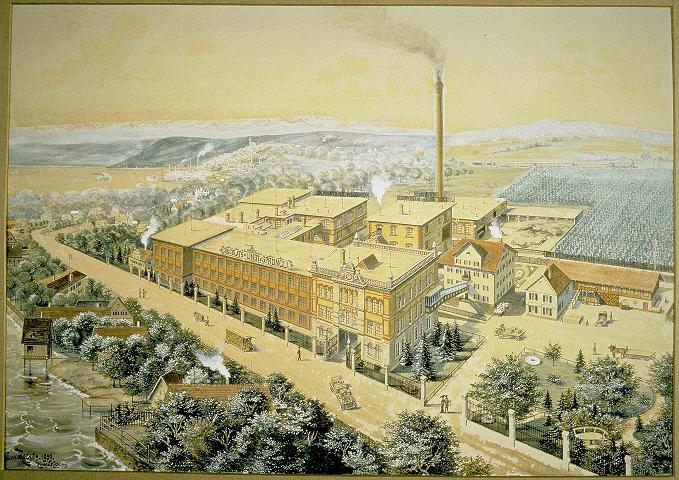 L'usine Lindt en Suisse en 1889