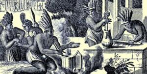 Les Aztèques préparent le xocoatl